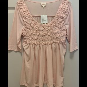 🌼🌺💐•NWT ANTHROPOLOGY SOFT PINK SPRING TOP•🌸